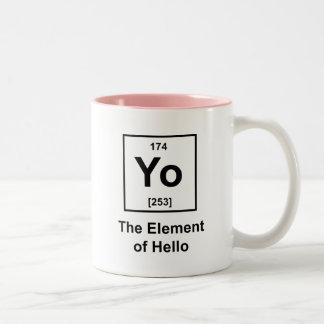 Yo! The Element of Hello Coffee Mugs