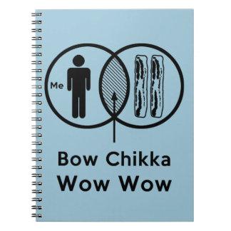 Yo + Tocino = arco Chikka wow wow Libro De Apuntes Con Espiral