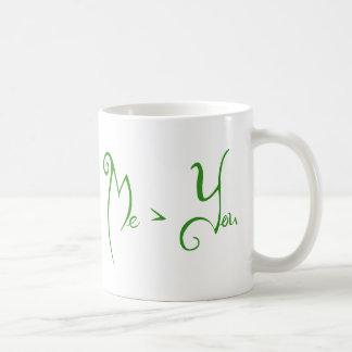 Yo > usted taza