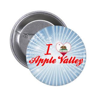 Yo valle de Apple de amor, California Pin Redondo De 2 Pulgadas