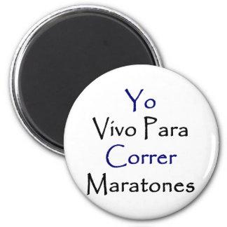Yo Vivo Para Correr Maratones Magnets