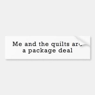 Yo y los edredones… Pegatina para el parachoques d Etiqueta De Parachoque