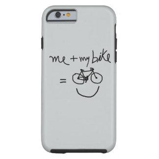yo y mi bici = felicidad funda para iPhone 6 tough