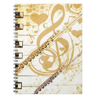 Yo y mi Flutes_ Spiral Notebooks