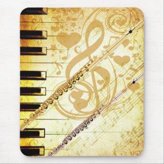 Yo y mi Flutes_ Tapetes De Ratón