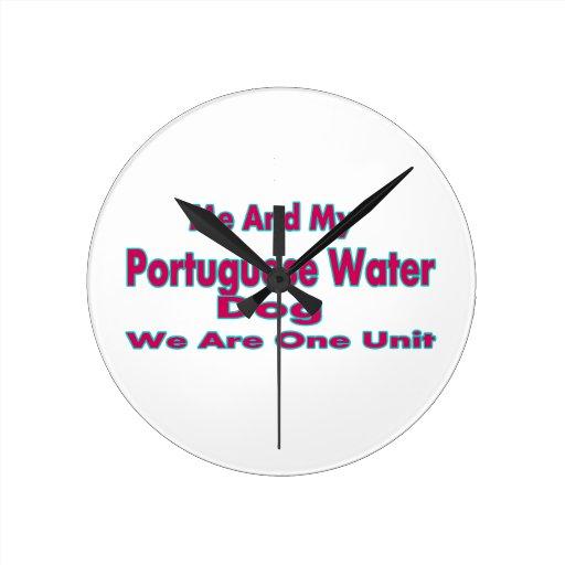 Yo y mi perro de agua portugués relojes