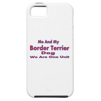 Yo y mi perro de Terrier de frontera iPhone 5 Cárcasa