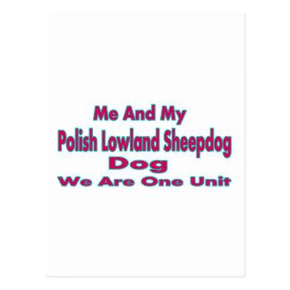 Yo y mi perro pastor polaco de la tierra baja postal