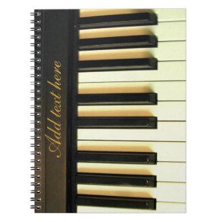 Yo y mi piano_ libro de apuntes con espiral