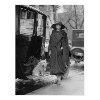 Yo y mi Westie, los años 20 Tarjeta Postal