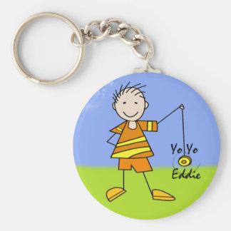 Yo Yo Eddie Basic Round Button Keychain