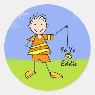 Yo Yo Eddie Classic Round Sticker