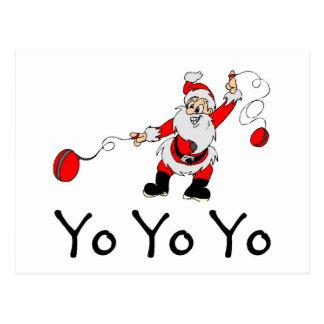 Yo Yo Yo Santa Postcard