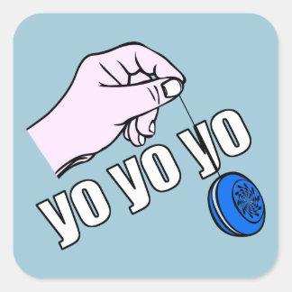 Yo Yo Yo Square Sticker