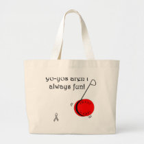 Yo-Yo's aren't always fun Large Tote Bag