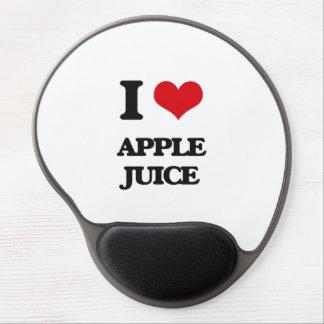 Yo zumo de manzana de amor alfombrillas de raton con gel