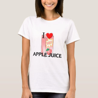 Yo zumo de manzana de amor playera