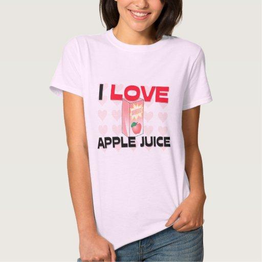 Yo zumo de manzana de amor playeras
