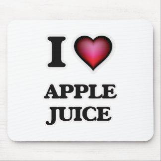 Yo zumo de manzana de amor tapete de ratones