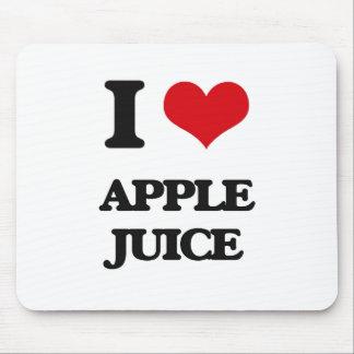 Yo zumo de manzana de amor tapetes de ratones