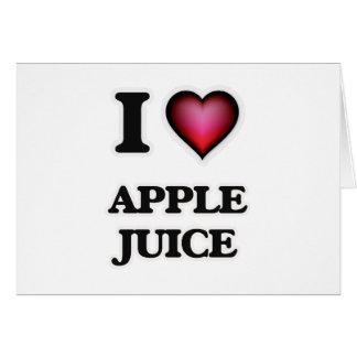 Yo zumo de manzana de amor tarjeta de felicitación