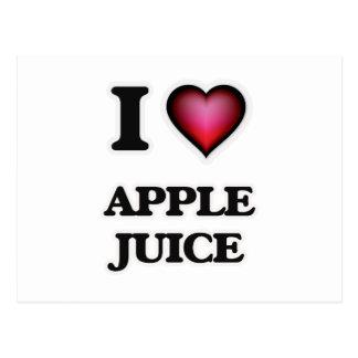 Yo zumo de manzana de amor tarjetas postales