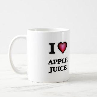 Yo zumo de manzana de amor taza clásica