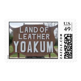 Yoakum, TX Land of Leather Postage