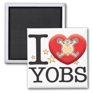Yobs Love Man 2 Inch Square Magnet