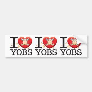 Yobs Love Man Bumper Sticker