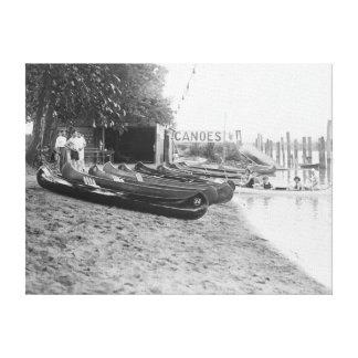 Yocum Canoe House, Arlington Beach Park Canvas Prints