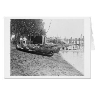 Yocum Canoe House, Arlington Beach Park Card