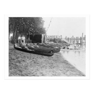 Yocum Canoe House, Arlington Beach Park Postcard