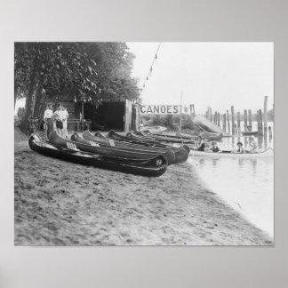 Yocum Canoe House, Arlington Beach Park Poster
