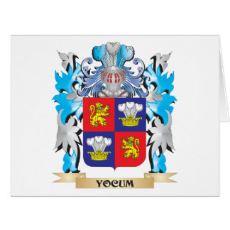 Yocum Coat of Arms - Family Crest Card