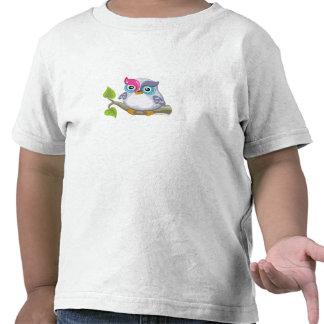 Yod el búho, hebreo Aleph apostado (alfabeto) Camisetas
