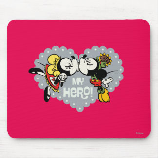 Yodelberg Mickey | Minnie and Mickey Kiss Mouse Pad