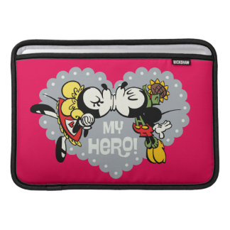 Yodelberg Mickey | Minnie and Mickey Kiss Sleeve For MacBook Air