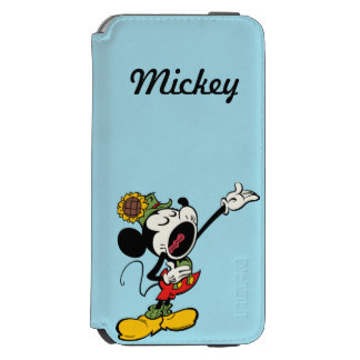 Yodelberg Mickey | Singing with Arm Up iPhone 6/6s Wallet Case