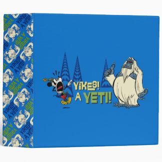Yodelberg Mickey | Yikes - a Yeti! 3 Ring Binder