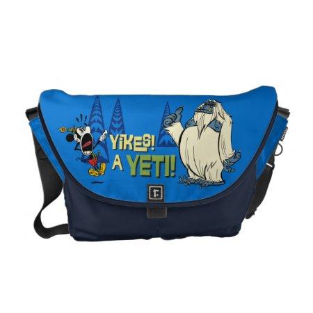 Yodelberg Mickey   Yikes - A Yeti! Messenger Bag