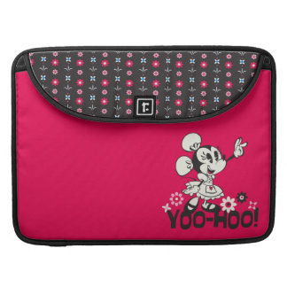 Yodelberg Minnie   Black and White Wave Sleeve For MacBooks