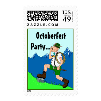 Yodeling Yodeler Yodel In Green lederhosen Stamps
