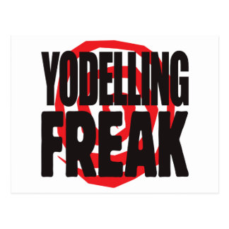 Yodelling Freak Postcard