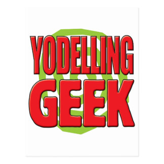Yodelling Geek Postcard