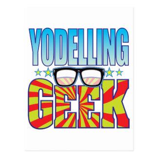Yodelling Geek v4 Postcard