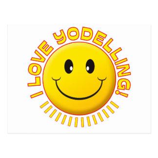 Yodelling Love Smile Postcard