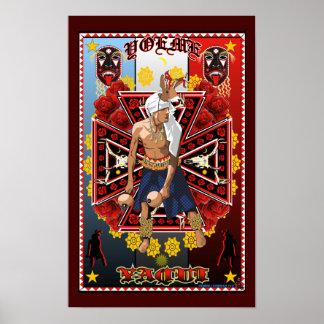 Yoeme Yaqui Deer Dancer Art print poster