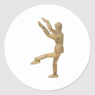 Yoga112809 copy classic round sticker