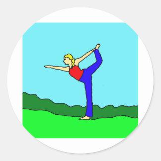 yoga1.jpg pegatina redonda